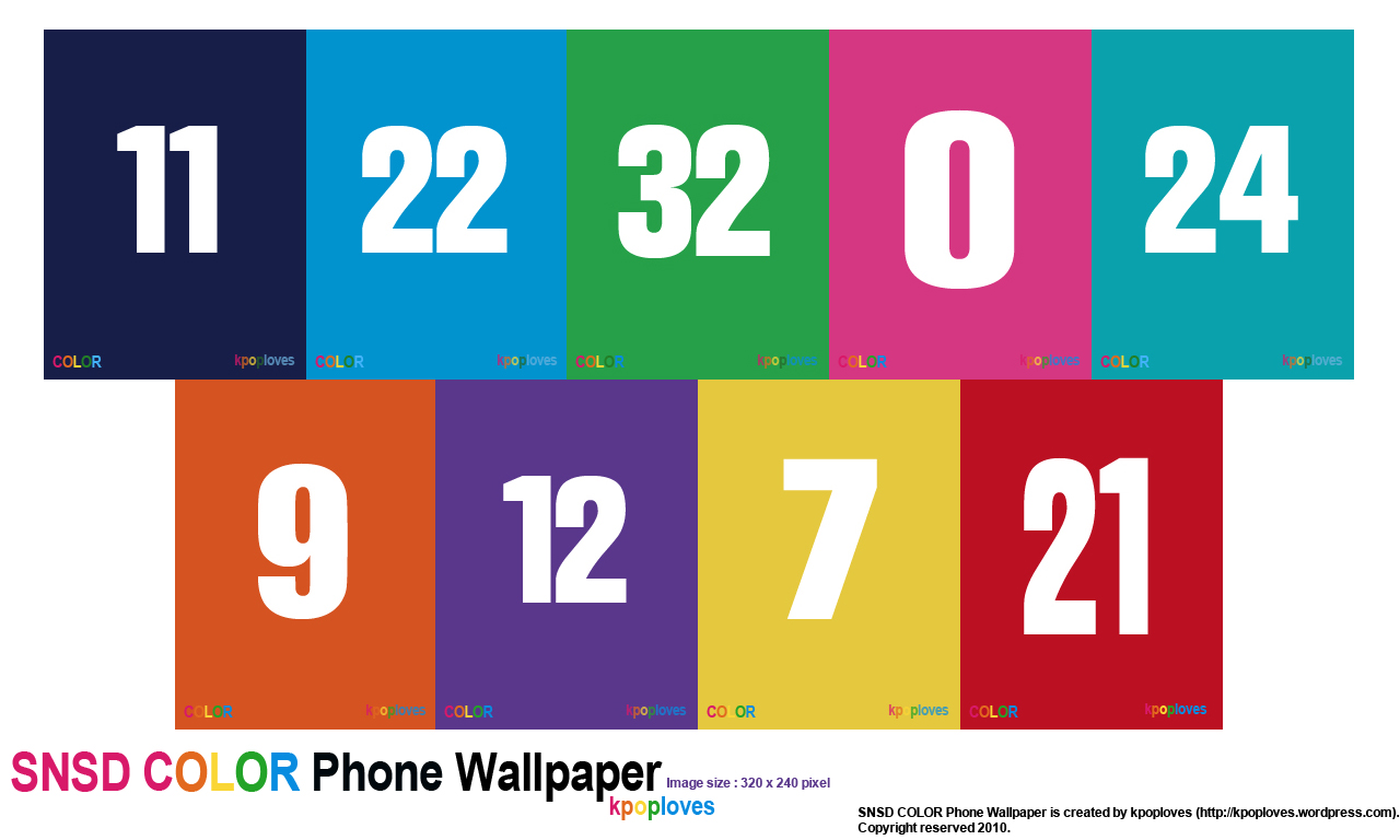Co color by number girls - Get Your Favourite Snsd Members Number Colour On Your Phone